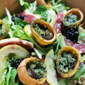 Salade, Croquilles d'escargots